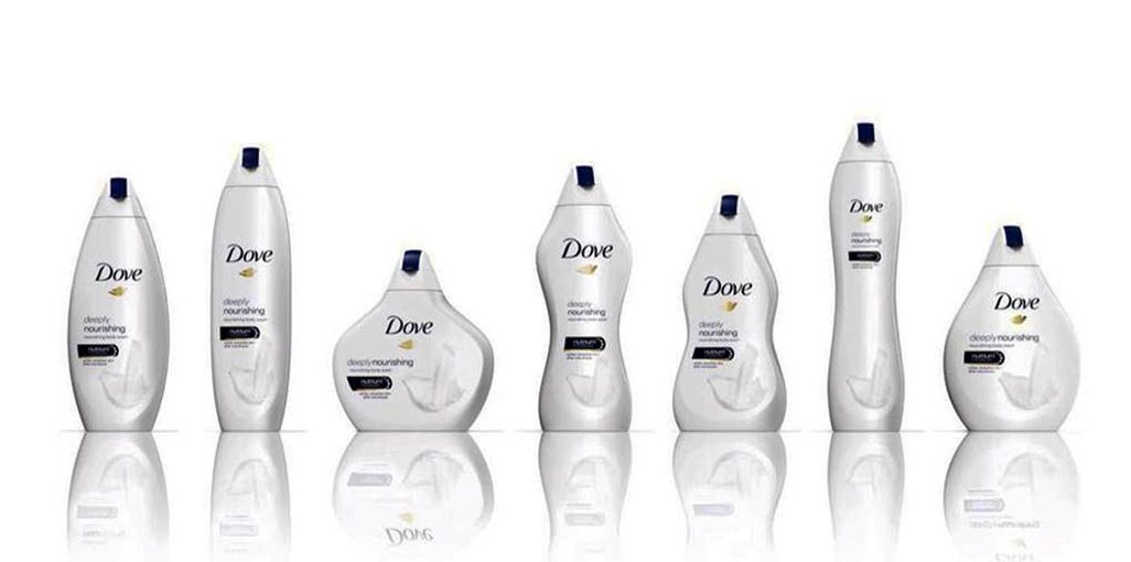 Dove Body-Shaped Bottles