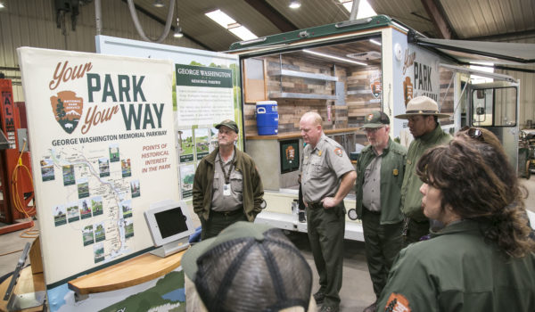 Montage Marketing facilitated a training for park rangers to learn and explore the mobile visitors center