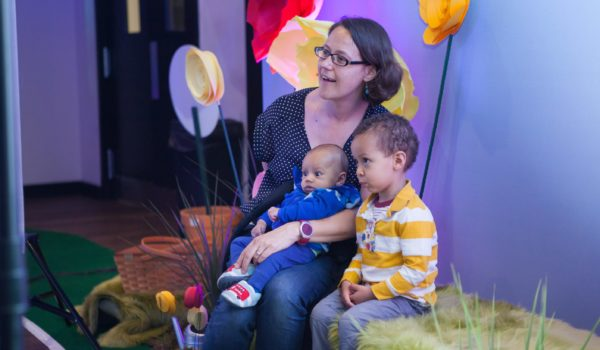Families in attendance took free portraits courtesy of Stacey Vaeth Photography