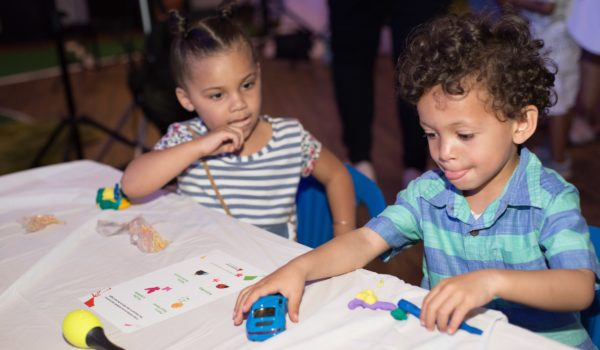 Kids participate in spring-themed educational activities