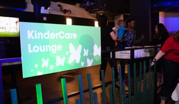 Attendees were invited to relax in the KinderCare Lounge