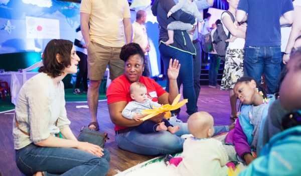 A chat about early learning at the Infant Sensory Station