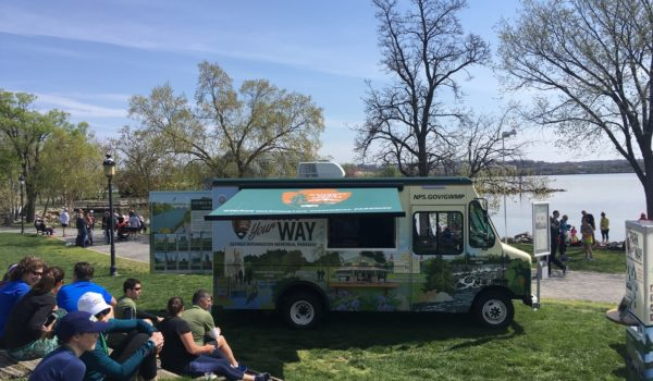 The mobile visitors center educates area residents and visitors about natural and historic landmarks along the George Washington Memorial Parkway