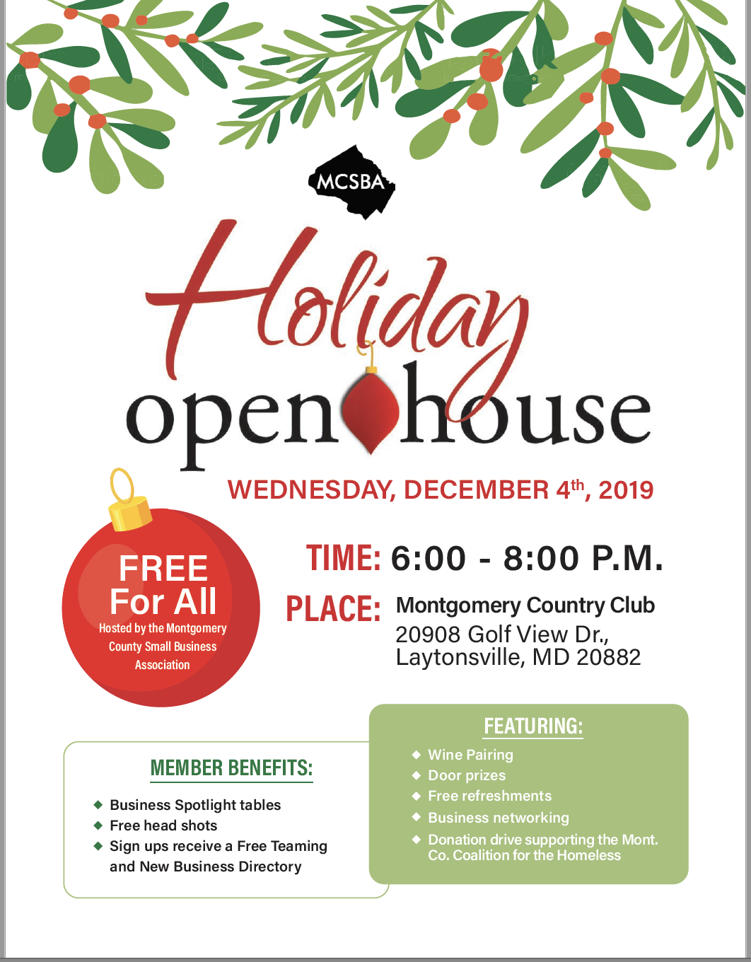 MontCo SBA Holiday Open House